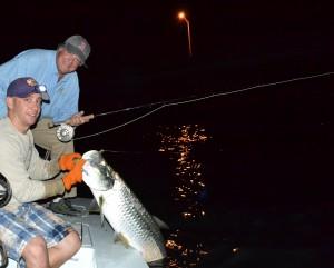 Islamorada night time tarpon fishing